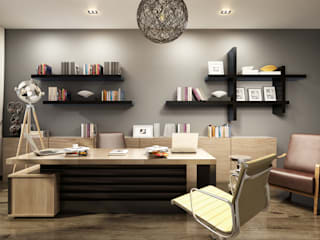 Modern offices & stores by TK Designs Modern