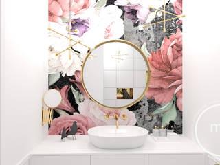 Projekt wnętrza mieszkalnego - łazienka, Tarnów 2018: styl , w kategorii  zaprojektowany przez M&M Magdalena Stano