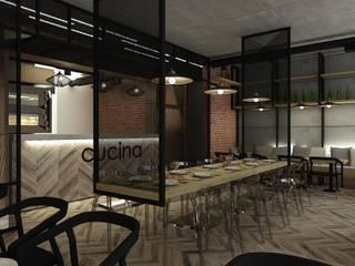 pizzeria w Warszawie: styl , w kategorii Bary i kluby zaprojektowany przez BAK Architekci