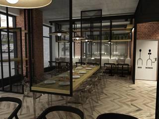 pizzeria w Warszawie: styl , w kategorii Gastronomia zaprojektowany przez BAK Architekci