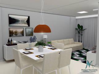 Projeto interiores - sala: Salas de jantar  por MN Arquitetura e Urbanismo