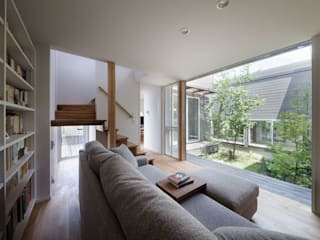 Salas de estar  por HAN環境・建築設計事務所 , Escandinavo