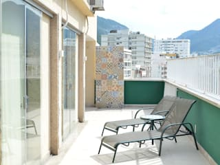 Reforma Cobertura Tijuca Varandas, alpendres e terraços modernos por StudioTrans.Forma Moderno