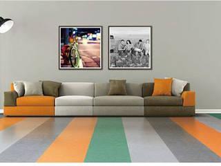 Supri Representações Pasillos, vestíbulos y escaleras modernos Plástico Multicolor