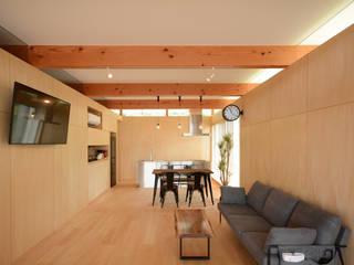 フラットハウス ミニマルデザインの リビング の 土居建築工房 ミニマル