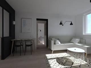 Duplex 62m² - Rue des Alpes: Salon de style  par SAS Alexandre TRIPIER