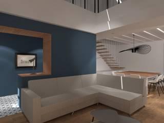 Maison de village: Salon de style  par SAS Alexandre TRIPIER