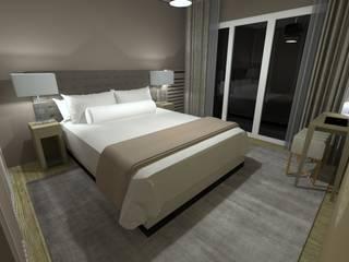 Anne Lapointe Chila モダンスタイルの寝室