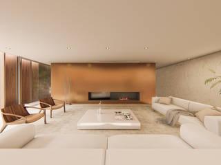 Salas / recibidores de estilo  por Studio Calla Arquitetura, Minimalista