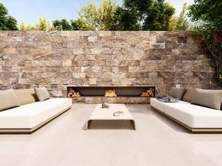 Jardines de estilo  por Studio Calla Arquitetura, Moderno