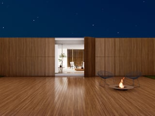 Casas unifamiliares de estilo  por Studio Calla Arquitetura, Moderno