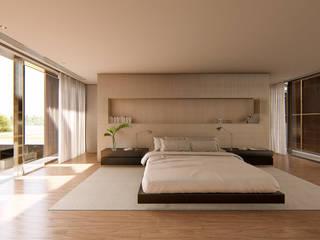 Suite Master Casa Ginkgo: Quartos  por Studio Calla Arquitetura,Minimalista Madeira Efeito de madeira