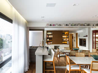 Living contemporâneo Salas de jantar minimalistas por ABHP ARQUITETURA Minimalista