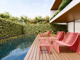 Piscinas de estilo  por Studio Calla Arquitetura, Moderno