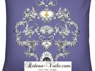 Toile de Jouy tissu ameublement tapisserie et décoration luxe French fabrics Paris:  de style  par Rideau-voile, Classique