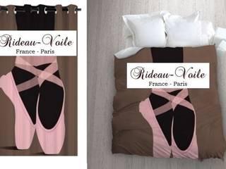 Tissu imprimé à motif Danseuse Ballerine Ballet étoile Opéra Ballerina:  de style  par Rideau-voile, Classique