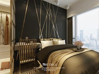 One Homantin :  Bedroom by Art Deco Design Ltd.