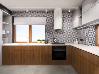 Projekt wnętrza domu jednorodzinnego, Częstochowa od IN studio projektowania wnętrz Industrialny