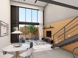 Industriale Wohnzimmer von Rafael Caldeira Arquitetura Industrial