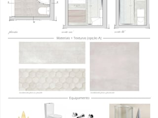 Proposta Instalações Sanitárias: Casas de banho modernas por Dar Azos - Oficina de Design