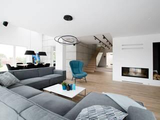Salon : styl , w kategorii Salon zaprojektowany przez Ajot pracownia projektowa