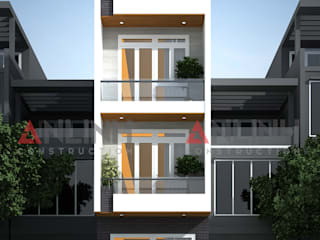 Thiết kế công trình nhà phố cho chủ đầu tư ở Tân Phú:   by CÔNG TY THIẾT KẾ XÂY DỰNG AN LĨNH