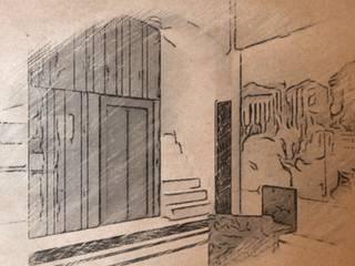 projecte de reforma de l'entrada de un edifici de vivendes al centre historic de Balaguer: Pasillos y vestíbulos de estilo  de A2 arquitectura interior