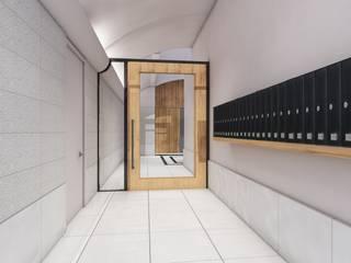 entrada edifici: Pasillos y vestíbulos de estilo  de A2 arquitectura interior