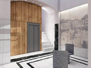 vestíbul edifici: Pasillos y vestíbulos de estilo  de A2 arquitectura interior