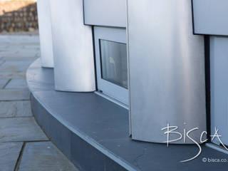 Architectural Steel Cladding Bisca Staircases Casa unifamiliare Ferro / Acciaio Metallizzato/Argento