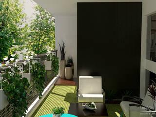 Rénovation et aménagement du balcon: Terrasse de style  par MAISON & VOUS