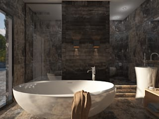 Banyo - Türk Hamamı Modern Banyo FA - Fehmi Akpınar İç Mimarlık Modern