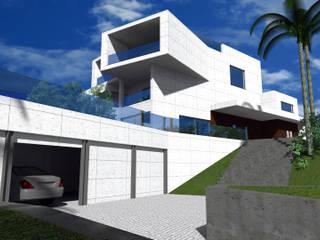 Habitação Unifamiliar AQ - Cascais:   por FPArquitectura,Moderno
