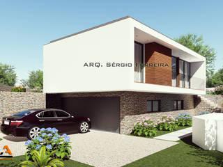 Casa Ribeiro _ SFArquitetos: Casas unifamilares  por SFArquitetos