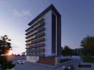 C8   ARQUITECTOS Moderne Hotels Beton Weiß