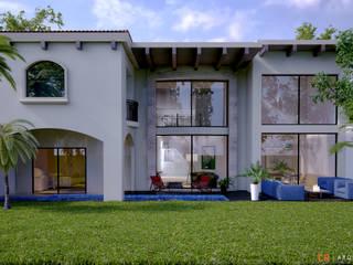 C8   ARQUITECTOS Einfamilienhaus Fliesen Beige