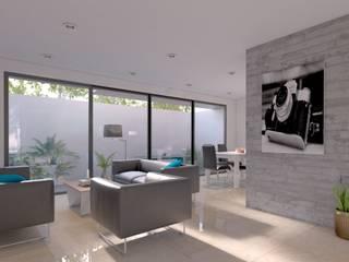 غرفة المعيشة تنفيذ C8 | ARQUITECTOS