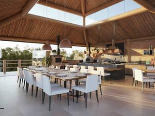 Casas de estilo rústico de Maria Luiza Aceituno arquitetos Rústico