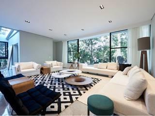 Livings de estilo moderno de Maria Luiza Aceituno arquitetos Moderno