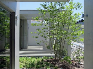 勝間田の家: 岸本泰三建築設計室が手掛けた庭です。