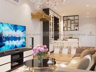 Nội thất phòng khách:  Phòng khách by Công Ty TNHH Xây Dựng & Nội Thất ECO Việt Nam