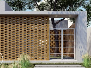 ARBOL Arquitectos Minimalist corridor, hallway & stairs