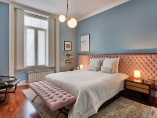 ShiStudio Interior Design Scandinavian style bedroom Blue