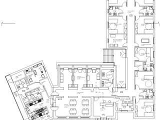 Reconversão/Ampliação de Edifício Escola para Lar Residencial, Alandroal:   por Coisa - Arquitectura, Design e Imagem, Lda