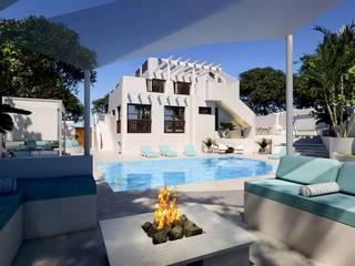 Ampliación de Villa en Los Balcones, Alicante Piscinas de estilo mediterráneo de Pacheco & Asociados Mediterráneo