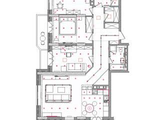 TOPOS. Apartments 105 q.m.:  Wände von nadine buslaeva interior design