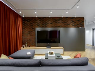 TOPOS. Apartments 105 q.m.:  Wohnzimmer von nadine buslaeva interior design