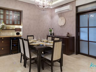 3 BHK Apartment - Raheja Pebble Bay: modern Dining room by KRIYA LIVING