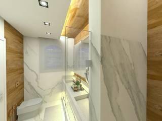Banho casal Letícia Saldanha Arquitetura Banheiros modernos