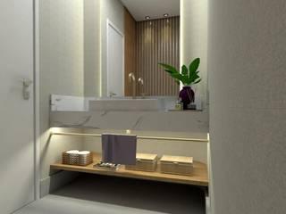 Antes e depois lavabo Letícia Saldanha Arquitetura Banheiros modernos